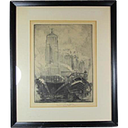 Chicago Railway Engraving by Hagerman