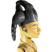 Tall Tribal Wood Female Figure