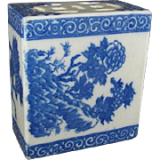 Chinese Porcelain Block Censor