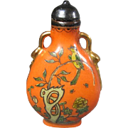 Chinese Porcelain Snuff Bottle Signed
