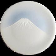 Japanese Porcelain Mt Fuji Cabinet Plate