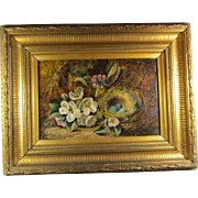 SALE Antique Oil Canvas Still Life