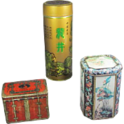 Trio of Chinese Tea Tins