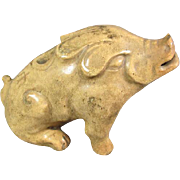 Antique Chinese Pottery Boar/Pig