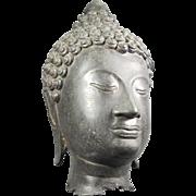 Bronze Thai Buddha Head