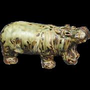 SALE Royal Copenhagen Hippopotamus Knud Kyhn Figurine