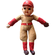 "SOLD Celluloid 7.5"" Baseball Doll - Made in Japan"