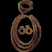 Bergere Set of Jewelry - Necklace, Bracelet & Earrings