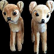 Vintage Pair of Steiff Bambi Fawn Deer - 1950s