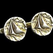 Vintage Fenwick & Sailors Vermeil Sterling Silver Sailboat Cufflinks