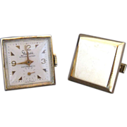 Vintage Working Windup Watch And Blank Cufflinks By Sheffield