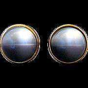 Vintage Kreisler Craft Change O Color Grey Lucite Ball Cufflinks
