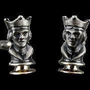 Vintage Queen Chess Piece Cufflinks By Swank