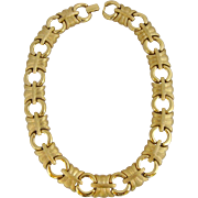 Vintage Givenchy Gold Tone Choker Style Necklace