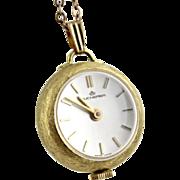 Vintage Bucherer Ladies Windup Watch Pendant