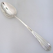 Lotus Platter Spoon Richard Blanchard Sterling Silver 1925