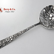 Medium Berry Spoon Repousse Sterling Silver Kirk and Son 1925