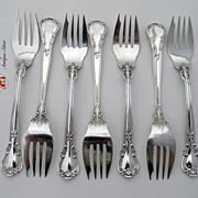 Chantilly Set of 7 Salad Forks Gorham sterling Silver 1895