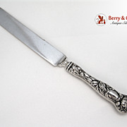 Bridal Rose Regular Knife Sterling Silver Alvin 1903