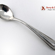 Vintage Salt Spoon Sterling Silver 1940
