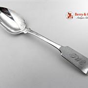 Z Clark Dessert Spoon Coin Silver 1830 Monogram TWC