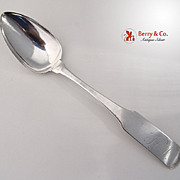 American Federal Coin Silver Table Spoons J Warner 1800