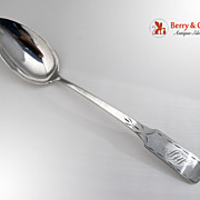 SALE PENDING Bright Cut Federal Tablespoon 1790 Jacob Gerritse Lansing Albany Coin Silver Mono