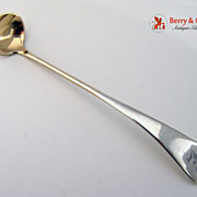 Antique Gorham Mustard Ladle Sterling Silver 1875