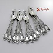 SALE PENDING Florentine Orange Spoons 12 Gorham Sterling Silver Patent 1901