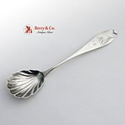 Sugar Shell Tipt Coin Silver 10-15 Baltimore 1840 Monogram MA