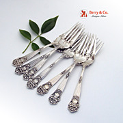 Georgian Salad Forks 7 Sterling Silver Towle 1898