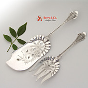 Angelo Fish Serving Set Sterling Silver Wood and Hughes 1878