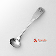 Coffin End Mustard Spoon Coin Silver 1840s