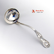 Old King Soup Ladle Whiting Caldwell Sterling Silver 1880 Monogram MWMcK