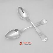 Coin Silver 2 Table Spoons John Capelle 1850
