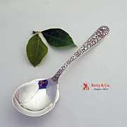 Repousse Pea Spoon Sterling Silver Kirk and Son