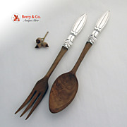 Salad Serving Set Sterling Silver F.Whiting