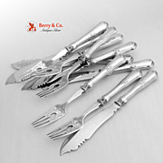 Fish Set 10 Pieces Forks and Knives All Silver