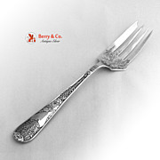 Aesthetic Floral Foliate Cold Meat Fork Gorham Patent 1885 Sterling Silver No Monogram