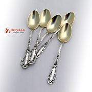 Set of 5 Demitasse Spoons Number 10 Dominick and Haff 1895
