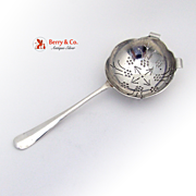 Tea Strainer Hanoverian English Sterling Silver Sheffield 1978