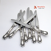 Buttercup 8 Knives Sterling Silver Gorham 1899