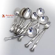 Vintage Grape Pattern Bouillon Spoons 5 Teaspoons 6 Cocktail Forks 3 Silverplate Rogers Intern