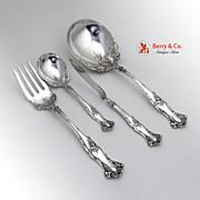 Vintage Grape Pattern Berry Spoon Sugar Spoon Twist Butter Knife Cold Meat Fork Silverplate Ro