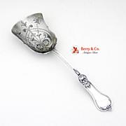 Ornate Berry Shovel Sterling Silver London 1910