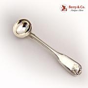Georgian Master Salt Spoon Fiddle Shell England Sterling Silver 1799
