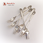 SOLD Georgian Cocktail Fork Set of 6 Towle Sterling Silver 1898