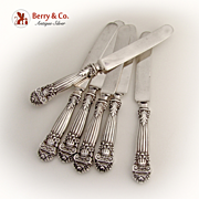 SOLD Georgian Dinner Knives Set of 6 Towle Sterling Silver 1898