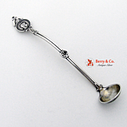 Medallion Mustard Ladle Schulz and Fischer San Francisco Sterling Silver 1870