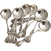 Majestic Bouillon Soup Spoons Alvin Sterling Silver 1900